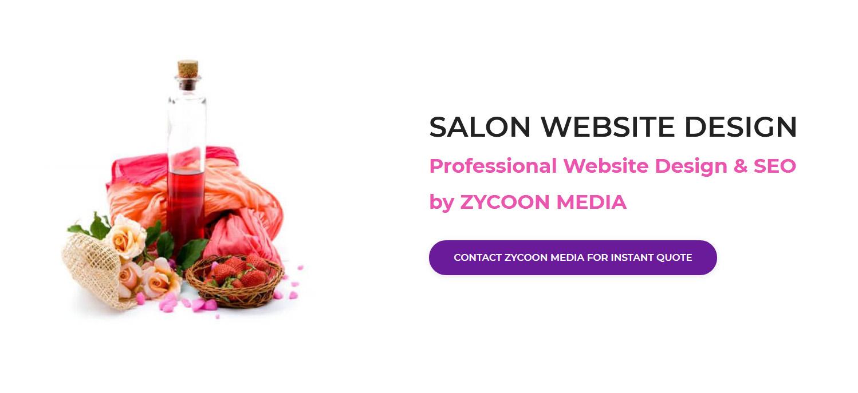 Beauty Salon Website Design Toronto Canada