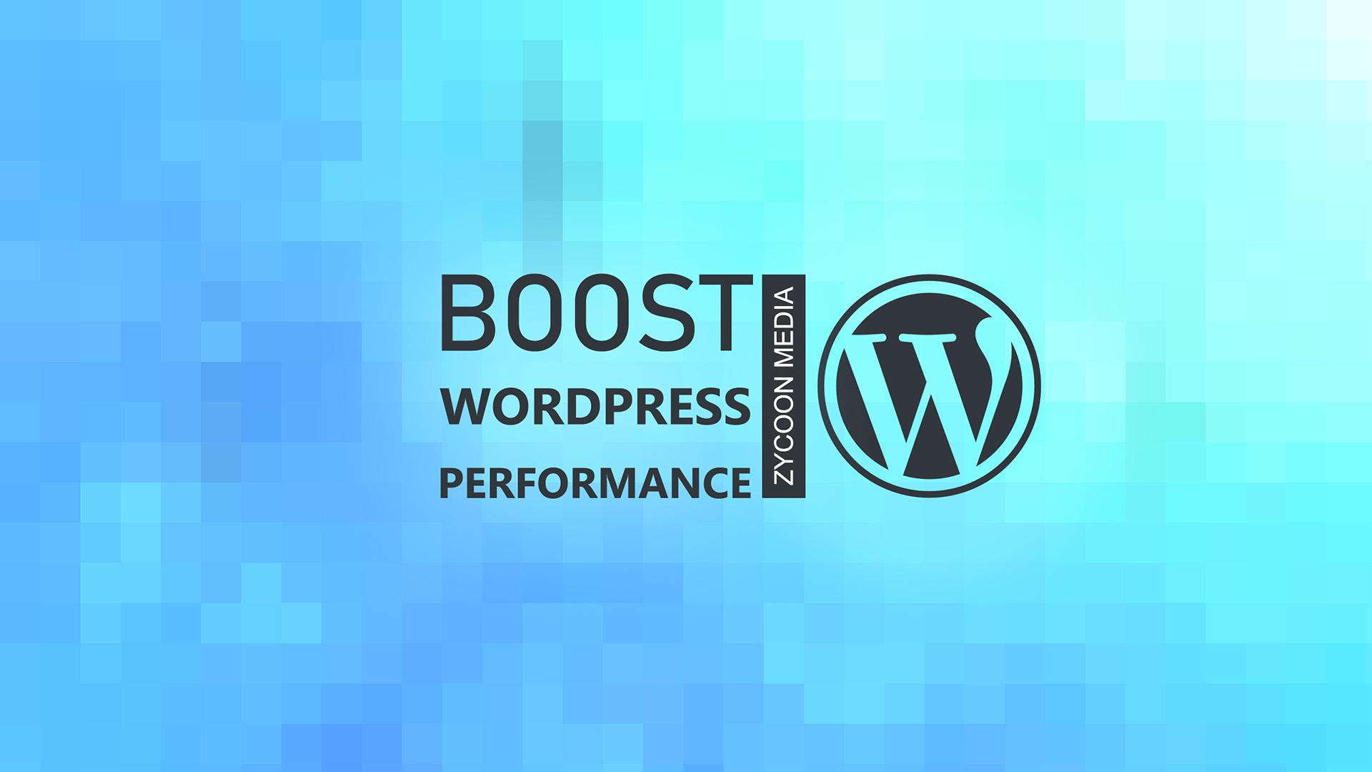 boost wordpress speed performance
