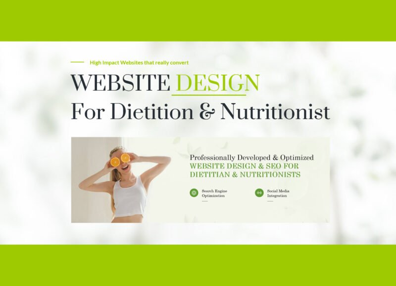 Dietitian Website Seo And Design
