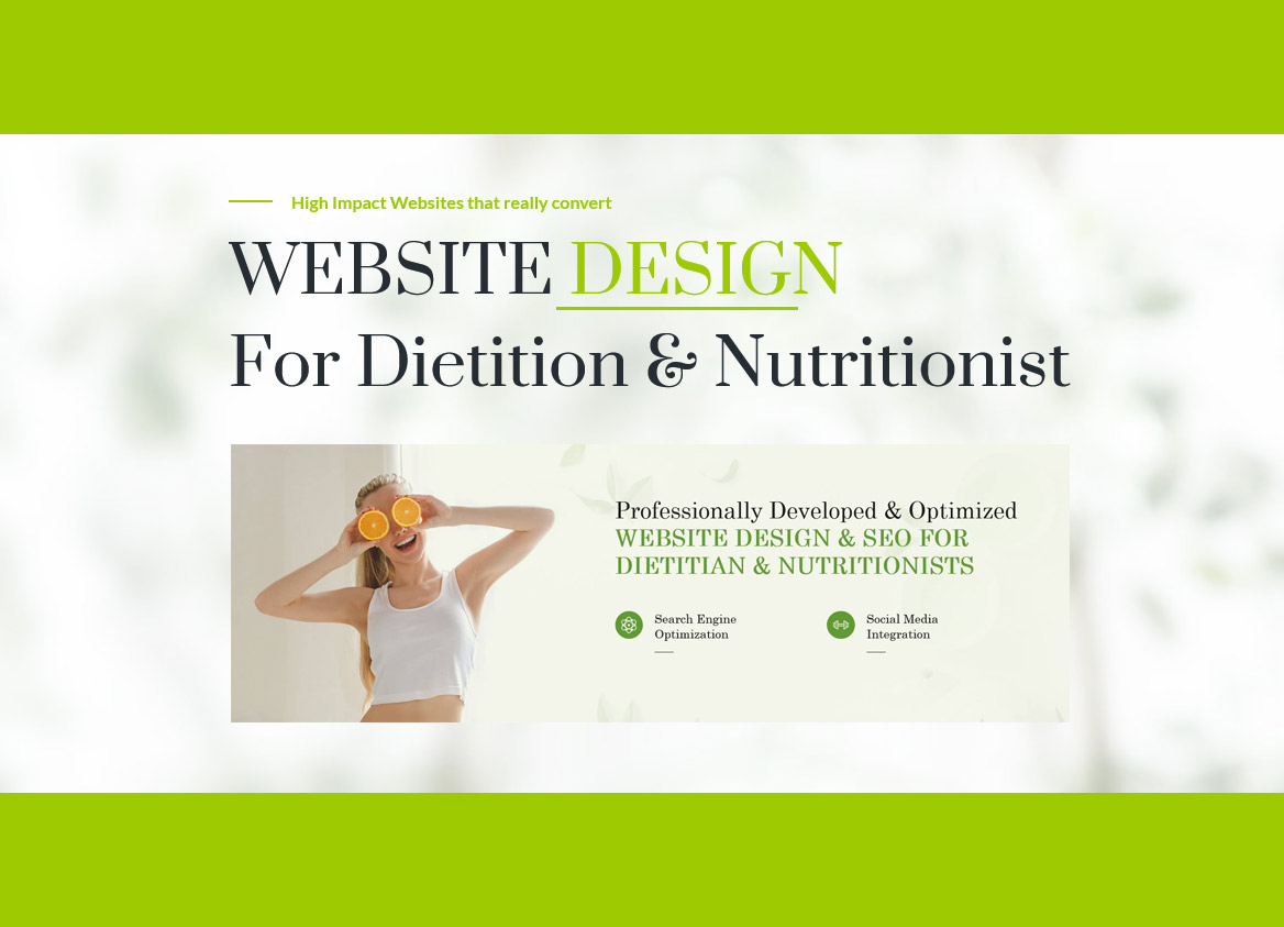 Dietitian Website Seo And Design