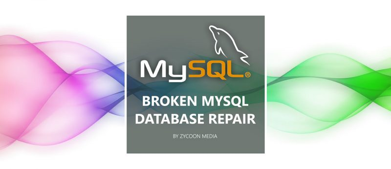 Repair Mysql Database Broken Table