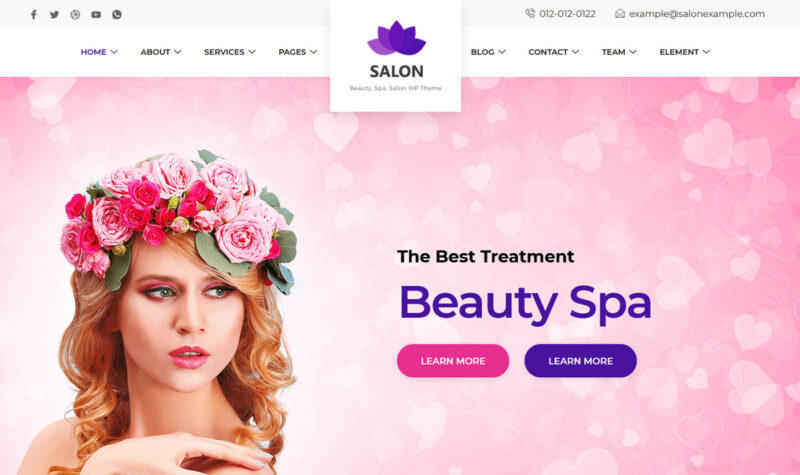 Salon Website Design Seo